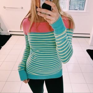 LILLY PULITZER STRIPED KNIT LONG SLEEVE TOP